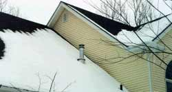 classic snow melt for ice dams