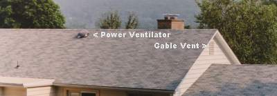 Rear of House - Power Ventilator & Gable Vents