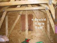 Sealed gable outlet ventilation with plywood